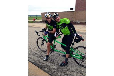 Kyle Robinson and Dave Hammer at the National 24-Hour Challenge