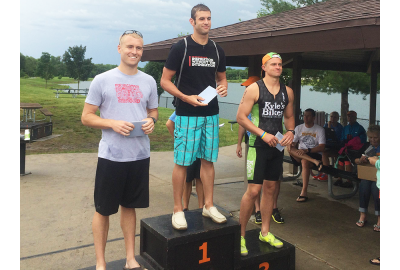 Andy Bernholtz took 3rd in his age group at Copper Creek Triathlon