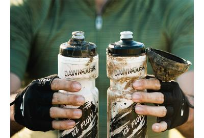 Dawn to Dusk makes water bottles with optional dirt covers