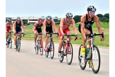In draft-legal triathlon, the swim is important to get a good bike position