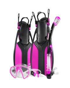 TYR Voyager Women's Mask and Snorkel Fin Set